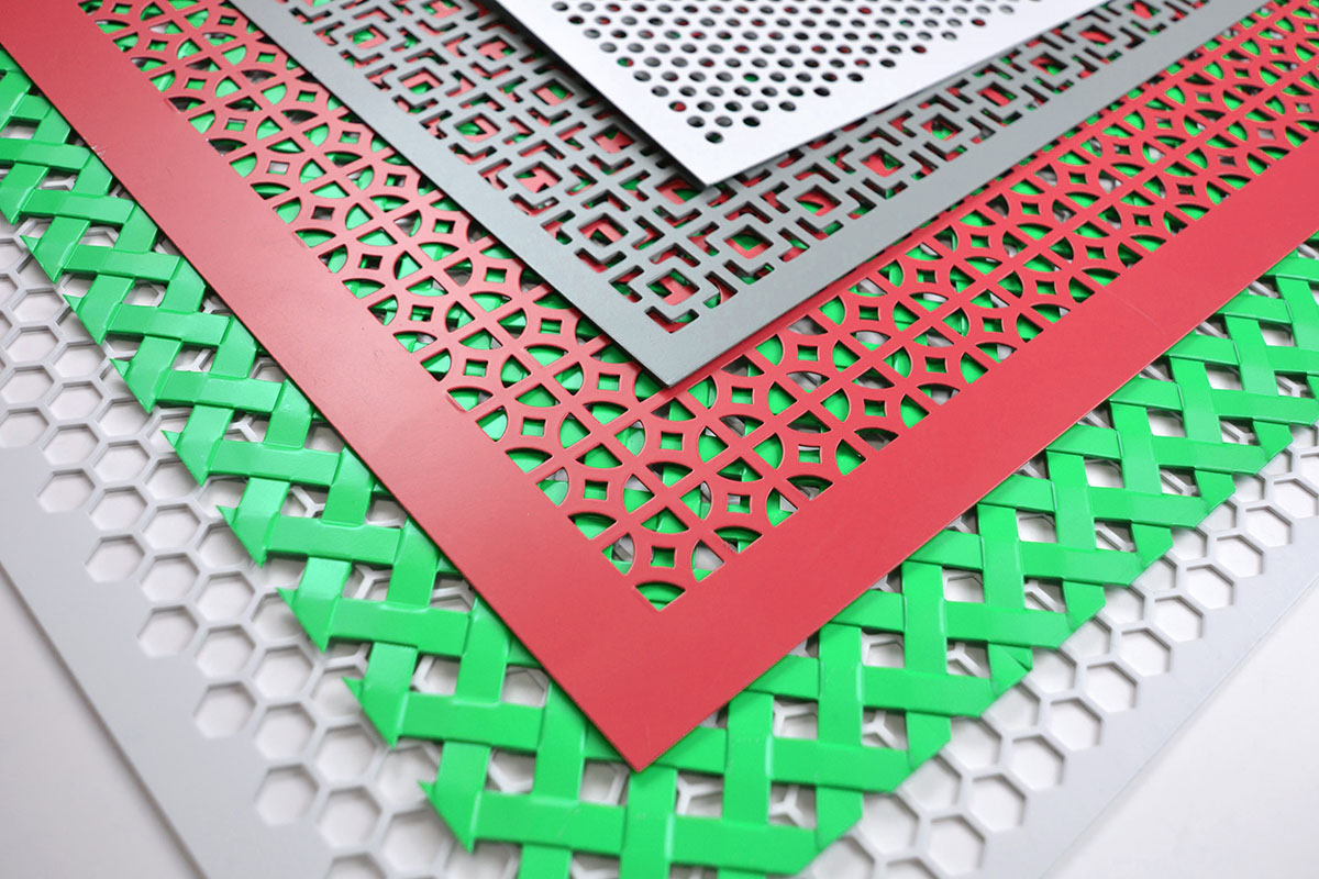 decorative metal sheets with patterned openings