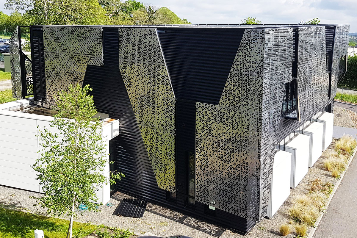 perforated metal facades