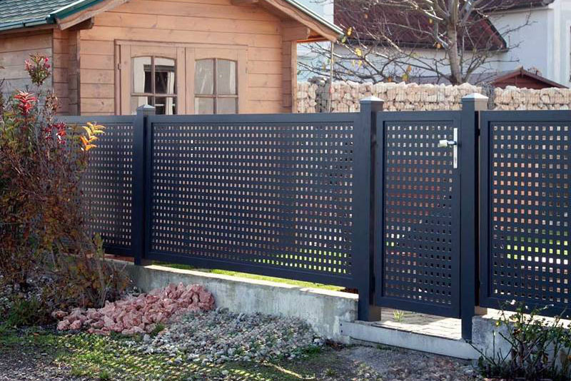 perforated metal fence panels