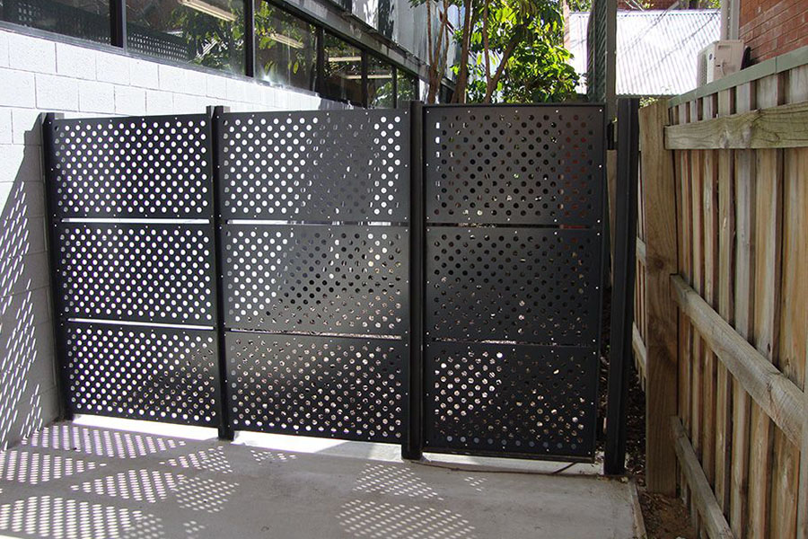 perforated fence panels