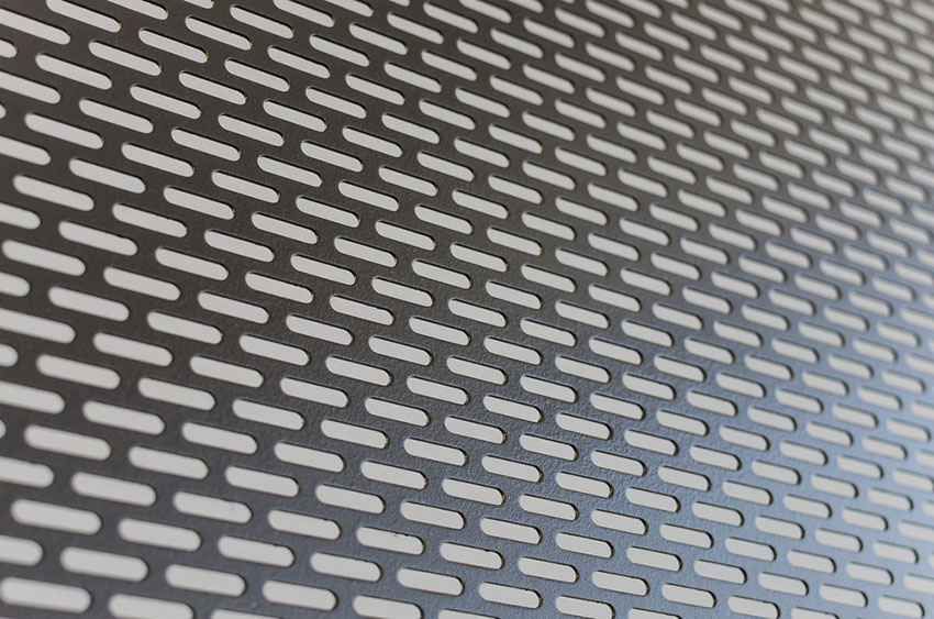 slotted perforated steel sheet